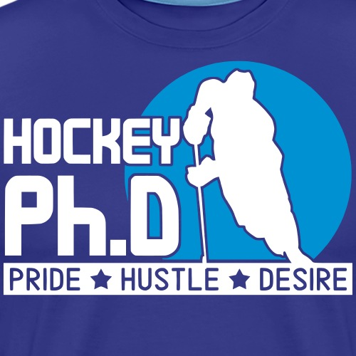 hockey_phd_new_vectorized - Men's Premium T-Shirt