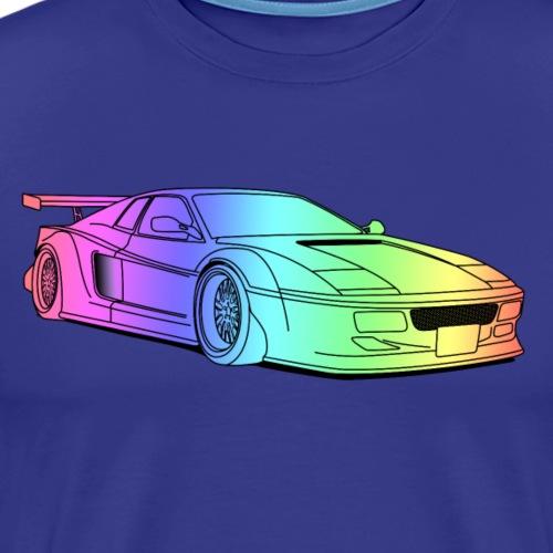 cool car colourful - Men's Premium T-Shirt