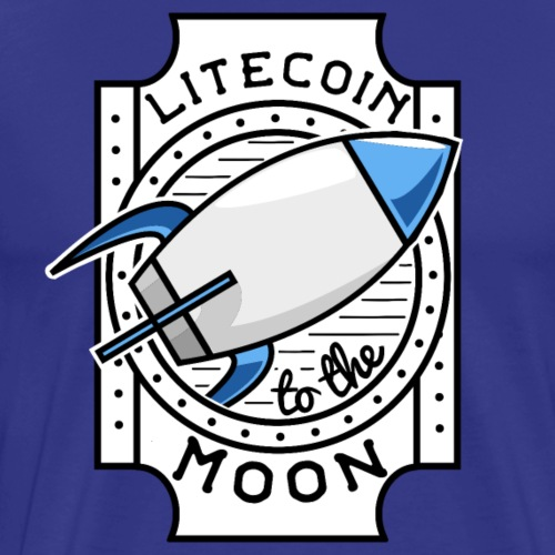 Litecoin to the Moon - Männer Premium T-Shirt