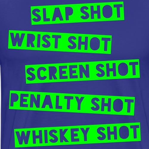 Hockey Shots - Men's Premium T-Shirt