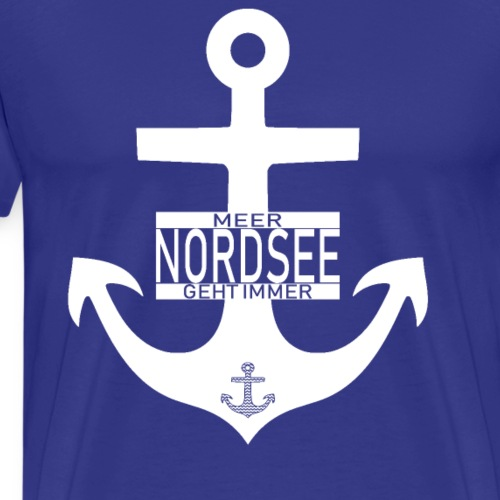 Nordsee Anker Meer geht immer - Männer Premium T-Shirt
