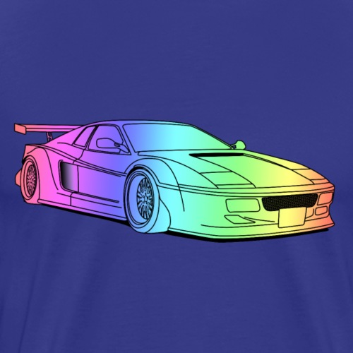 cool car colourful - Men's Premium T-Shirt