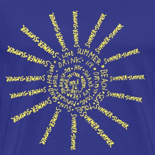 Sunny text - Men's Premium T-Shirt