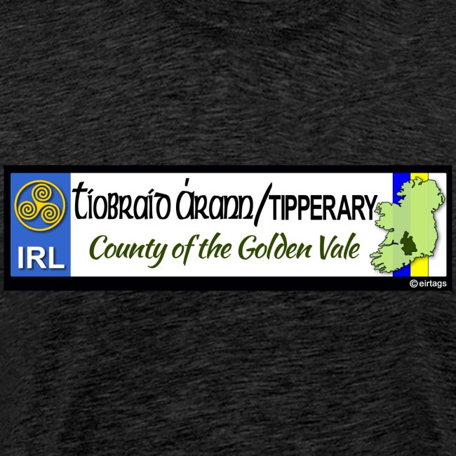 TIPPERARY, IRELAND: licence plate tag style decal