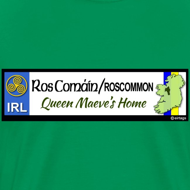 ROSCOMMON, IRELAND: licence plate tag style decal