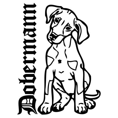 dobermannpuppy0903 - Mannen Premium T-shirt