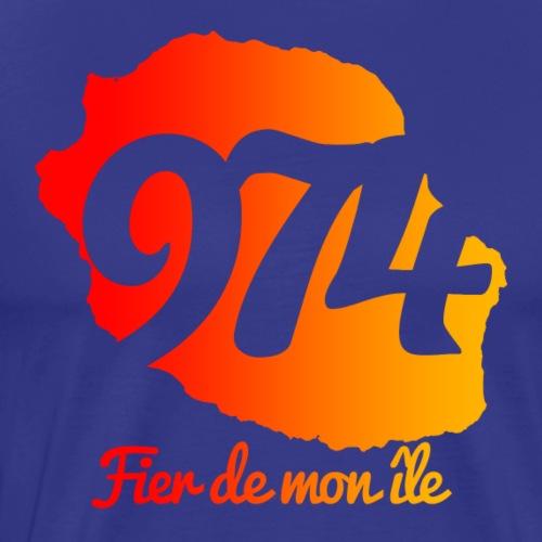 Collection 974 Fier de mon île - T-shirt Premium Homme