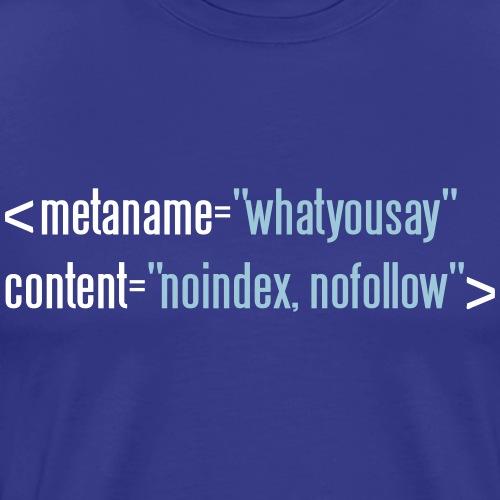 HTML no follow - Männer Premium T-Shirt