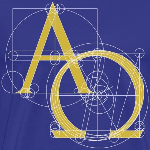 Alpha & Omega Christian Symbol - Men's Premium T-Shirt