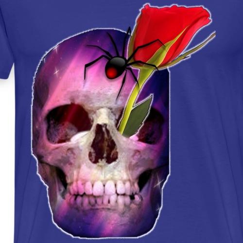 tête de mort + araignée + rose - T-shirt Premium Homme
