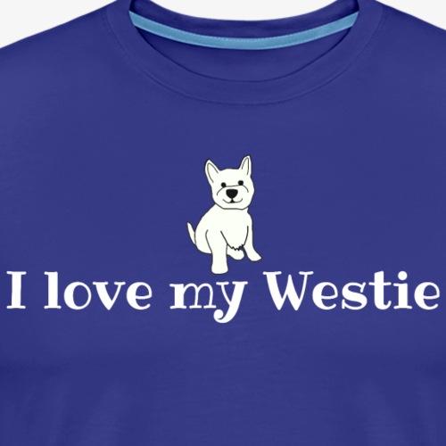 I Love My Westie - Men's Premium T-Shirt