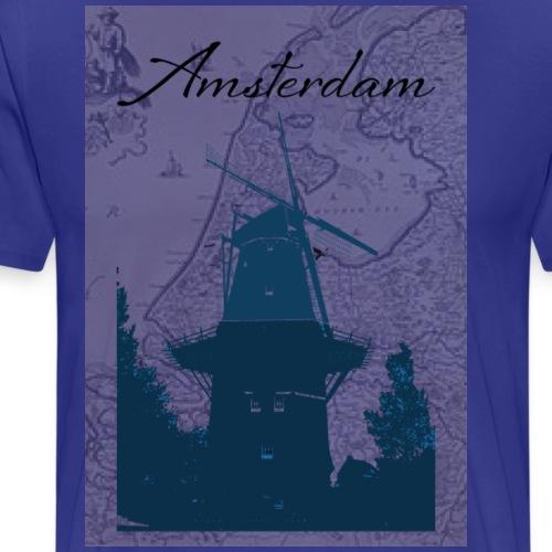 Miasto Amsterdam - Koszulka męska Premium