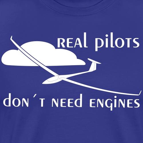 echter Segelflieger Pilot gleiten Geschenk Motor - Männer Premium T-Shirt