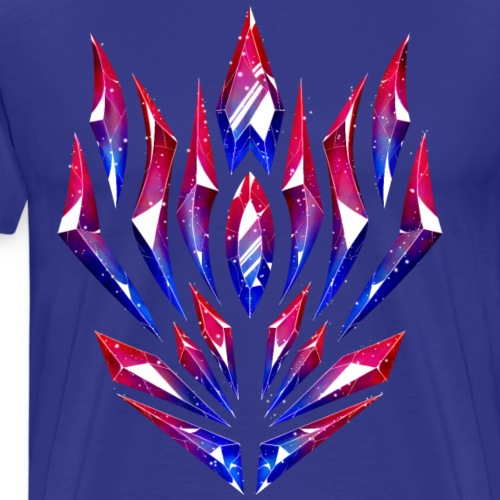 Cristales orgullo bisexual - Camiseta premium hombre