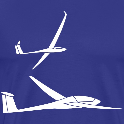 Segelflieger Geschenk Segelflugzeug Formation - Männer Premium T-Shirt