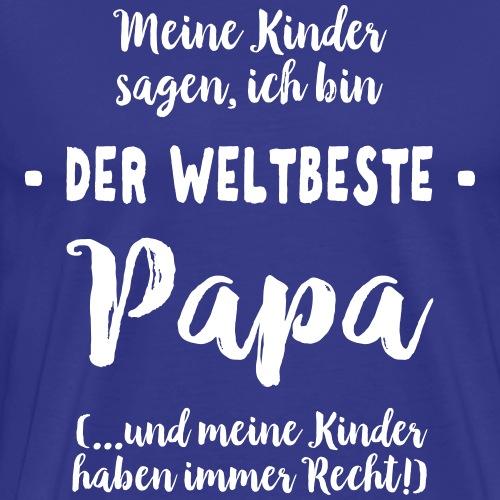 Weltbester Papa Vater Geschenk Spruch von Kindern - Männer Premium T-Shirt