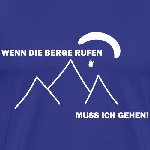 gleitschirmflieger paragliding geschenk tshirt - Männer Premium T-Shirt