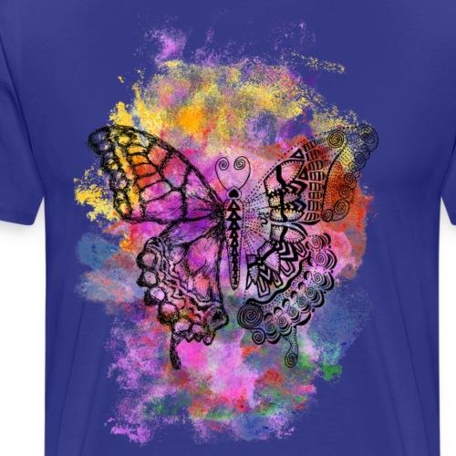Spirituelles Krafttier-Shirt Schmetterling - Männer Premium T-Shirt