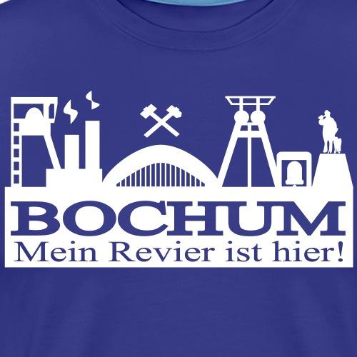 Bochumer Skyline mit Hammer und Eisen - Mein - Männer Premium T-Shirt