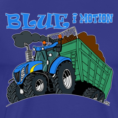 blue i motion border - Mannen Premium T-shirt