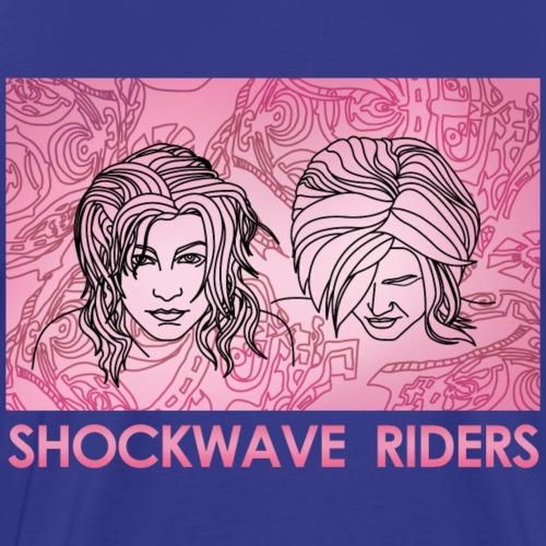 Shockwave Riders Faces pink - Männer Premium T-Shirt