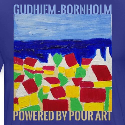 Gudhjem Bornholm - Herre premium T-shirt