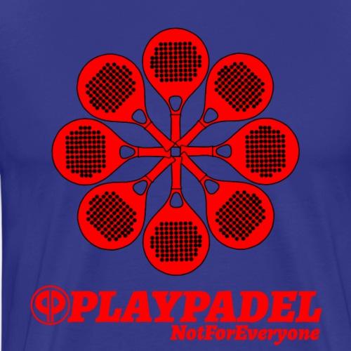 PLAYPADELRedFlower - Maglietta Premium da uomo