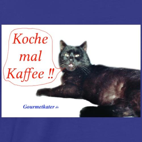Gourmetkater Kaffee - Männer Premium T-Shirt