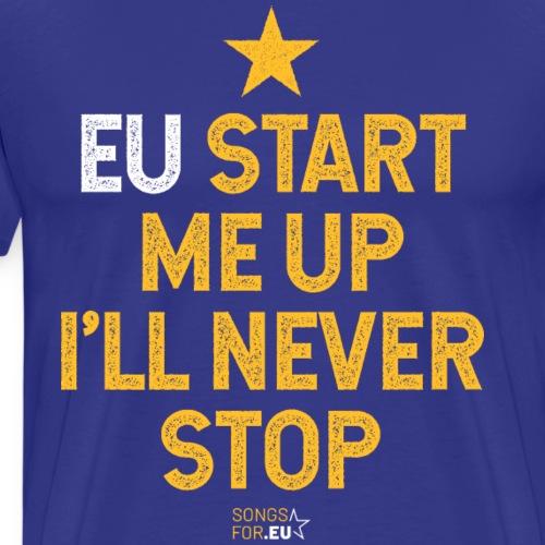 EU start me up | SongsFor.EU - Men's Premium T-Shirt