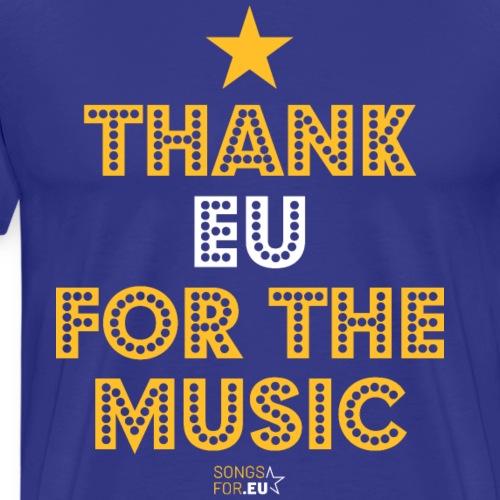 Thank you for the music | SongsFor.EU - Men's Premium T-Shirt