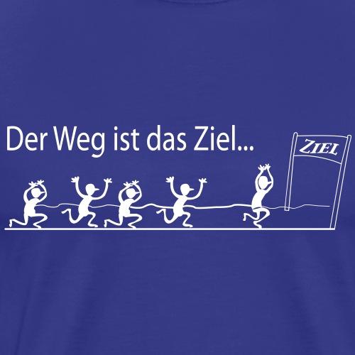 DAS ZIEL - MARATHON - Männer Premium T-Shirt