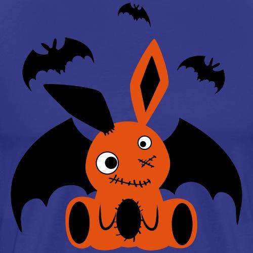 Vampir Monster Halloween Hase Fledermaus Kaninchen - Männer Premium T-Shirt