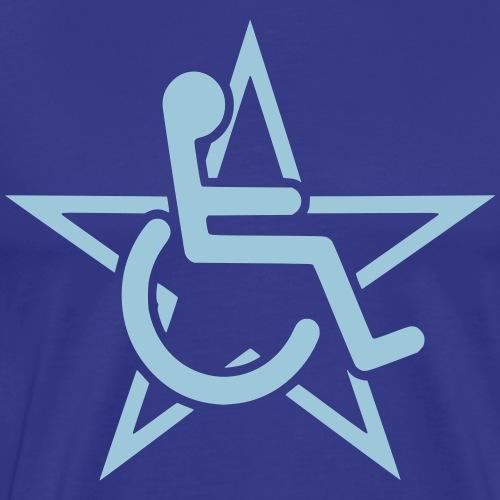 Wheelchairstar2 - Mannen Premium T-shirt