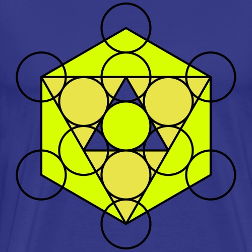 Dreiecke Kreise Hipster Geek Big Bang Hexagon - Men's Premium T-Shirt