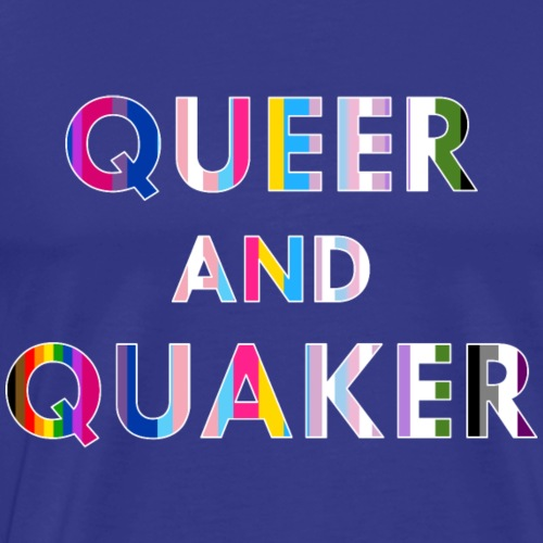 Queer and Quaker - white border - Men's Premium T-Shirt
