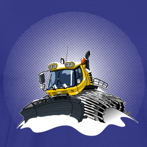 gele sneeuwschuiver sneeuwstorm - Mannen Premium T-shirt