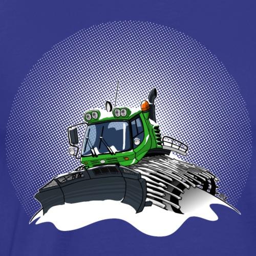 groene sneeuwschuiver sneeuwstorm - Mannen Premium T-shirt