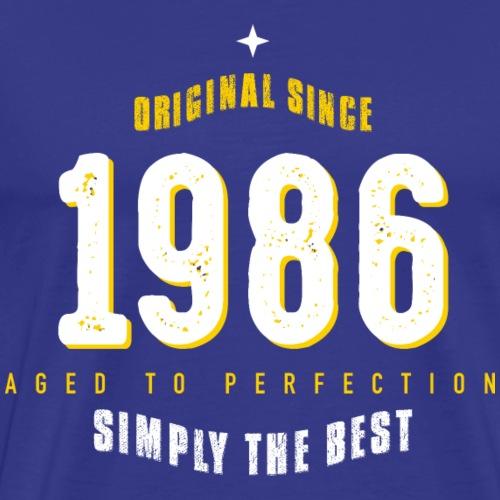 original since 1986 simply the best 30th birthday - Men's Premium T-Shirt
