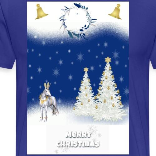 LICORNE BLANCHE NOËL MERRY CHRISTMAS - T-shirt Premium Homme