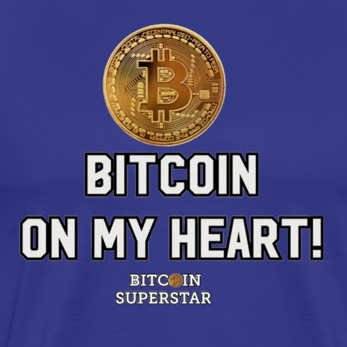 Bitcoin on my heart! - Maglietta Premium da uomo