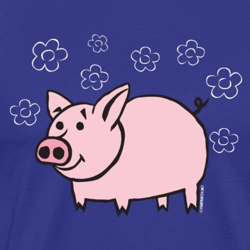 10-1B FUN PIGGY - HAUSKA POSSU Textiles and Gifts - Miesten premium t-paita
