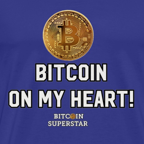 Bitcoin on my heart! - Maglietta Premium da uomo