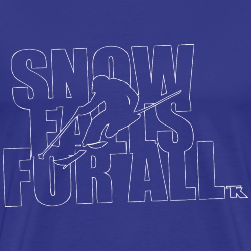 Snow Falls For All - T-shirt Premium Homme