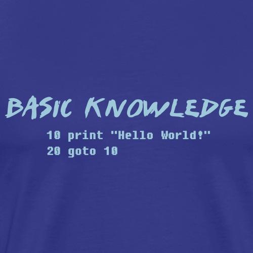 Basic Knowledge - Premium-T-shirt herr