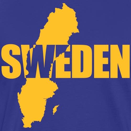 SWEDEN karta - Premium-T-shirt herr
