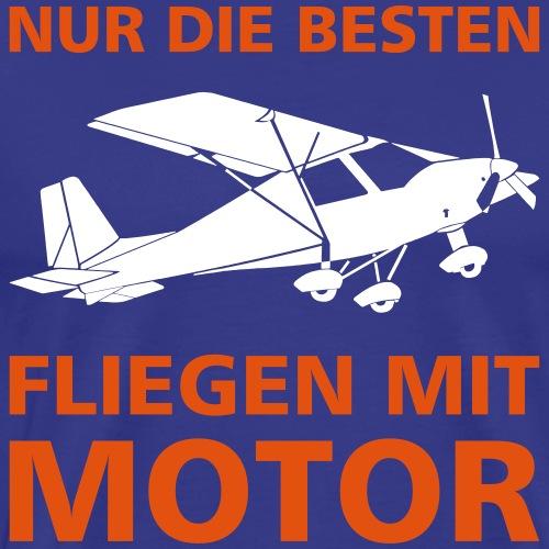 Motorflieger Pilot Flugzeug fliegen Gechenk - Männer Premium T-Shirt