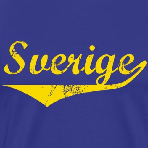 Sverige distressed BlåGul - Premium-T-shirt herr