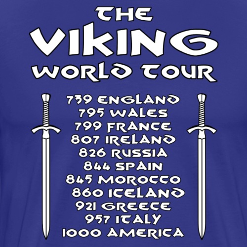 Viking world tour - Camiseta premium hombre