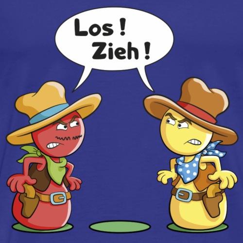 Pöppel Duell - Männer Premium T-Shirt