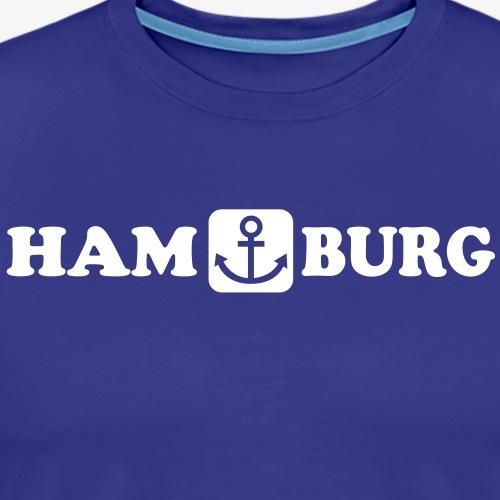 18 Hamburg Anker Maritim Heimathafen 1c - Männer Premium T-Shirt